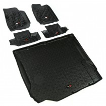 Floor Liner Kit, Black, 07-10 Jeep 2-Door Wrangler