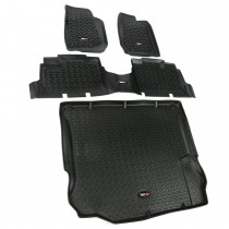 Floor Liner Kit, Black, 11-14 Jeep 4-Door Wrangler