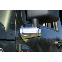 Mirror Arm Covers Chrome 07-17 Jeep Wrangler (JK)