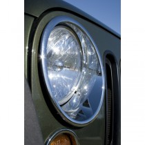Headlight Bezels Chrome 07-17 Jeep Wrangler (JK)