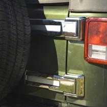 Tailgate Hinge Covers Chrome 07-16 Jeep Wrangler (JK)
