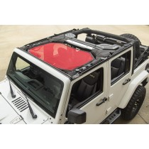 Eclipse Sun Shade Front Red 07-15 Jeep Wrangler JK