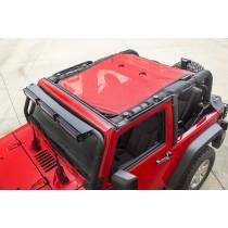 Eclipse Sun Shade Red 07-15 Jeep Wrangler JK 2-Door