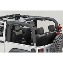 Roll Bar Cover Black Polyester 07-17 Jeep Wrangler (JK)