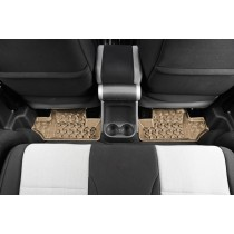 Floor Liners Rear Tan 07-17 Jeep Wrangler (JK)