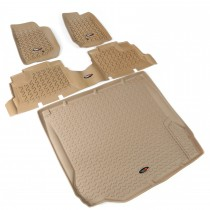 Floor Liner Kit, Tan, 07-10 Jeep 4-Door Wrangler