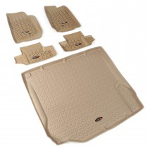 Floor Liner Kit, Tan, 07-10 Jeep 2-Door Wrangler