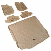 Floor Liner Kit, Tan, 11-14 Jeep 2-Door Wrangler