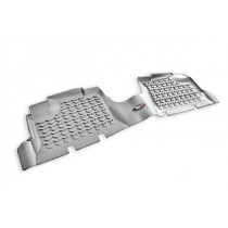 Floor Liners Rear Gray 07-17 Jeep Wrangler Unlimited (JK)