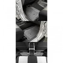 Four Piece Gray Floor Liner Set For 07-17 Wrangler 2 Door (JK)