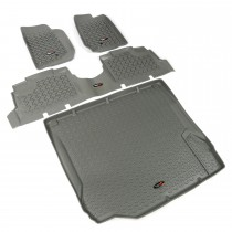 Floor Liner Kit, Gray, 07-10 Jeep 4-Door Wrangler