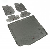 Floor Liner Kit, Gray, 07-10 Jeep 2-Door Wrangler