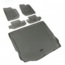 Floor Liner Kit, Gray, 11-14 Jeep 2-Door Wrangler