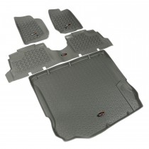 Floor Liner Kit, Gray, 11-14 Jeep 4-Door Wrangler