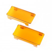6 Inch LED Light Cover Pair Amber