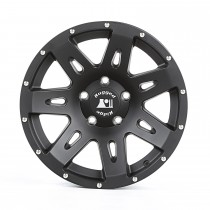 This 17 x 85-inch aluminum XHD wheel from Rugged Ridge has a black satin finish and a 5on5 bolt pattern