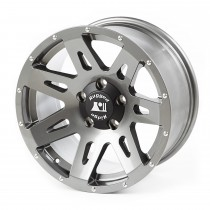 This 17 x 85-inch aluminum XHD wheel from Rugged Ridge has a gun metal finish and a 5on5 bolt pattern