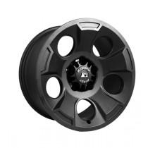 Drakon Wheel 17X9 Black Satin w/ center cap 07-17 Jeep Wrangler