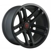 Jesse Spade wheel, 17X9, Black Satin, 07-15 Jeep Wrangler
