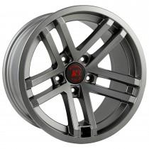 Jesse Spade wheel, 17X9, Satin Gun Metal, 07-15 Jeep Wrangler