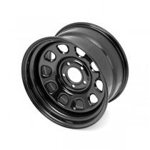 Black D-Window Wheel 17 Inch X 9 Inches 5 X 5-Inch Bolt Pattern