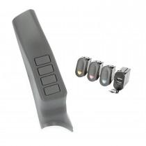 A-Pillar Pod Kit, 3 Switch, USB; 07-10 JK/JKU