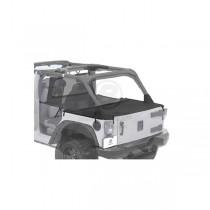 Duster Deck Cover Black Diamond 07-13 Jeep 4-Door JK Wrangler