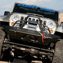 2007 - 2014 Jeep JK Lifestyle Winch Bumper w/ Pre-runner Grill Guard Bare