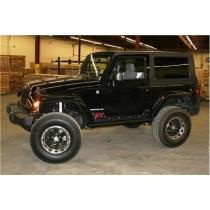 2007 - 2014 Jeep JK 2 Door Unlimited Rock Sliders Bare