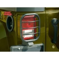 Jeep Wrangler Tail Light Guard Textured Black Finish, Flat design