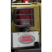 Jeep Wrangler Tail Light Guard for JK Textured Black Finish, Wrap design