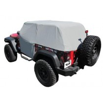 Cab Cover with door flaps Water Proof 07 to 14 Jeep Wrangler 2Dr Gray (Fits over Factory R