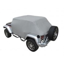 Cab Cover with door flaps Water Proof 07 to 14 Jeep Wrangler Unlimited 4 Dr Gray (Fits ove