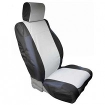 Custom Fit Polycanvas Seat Cover Front Pair Black/Gray JK 07 to 13