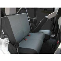 Custom Fit Polycanvas Seat Cover Rear Set Black/Gray JK 4 Door 07 to 13