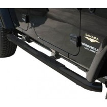Body Side Guards with Step Jeep JK 2Dr 07 to 14 Black Powder Coat