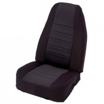 2/4 DOOR Neoprene Seat Cover  Front  Black/Black  Front Set
