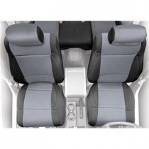 2/4 DOOR Neoprene Seat Cover  Front  Black/Charcoal  Front Set