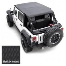 07-09 Wrangler EXTENDED TOP DIAMOND Black 2 Door
